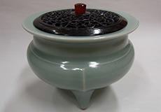 板谷波山-青磁香炉