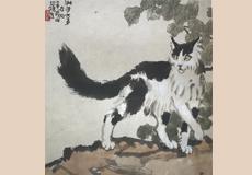 徐悲鴻-猫