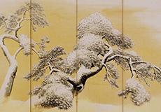 円山応挙-雪松図屛風