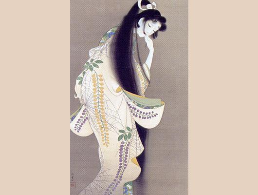 上村松園メイン画像-焔(ほのお)