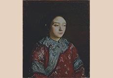 岸田劉生-支那服を着た妹照子像