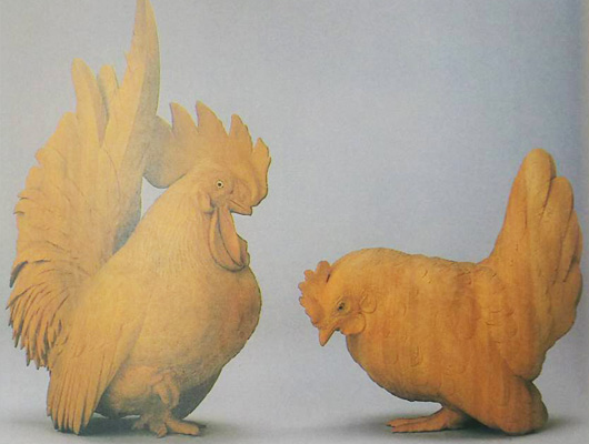高村光雲-矮鶏置物