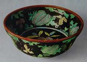 青木木米-瓜模様鉢