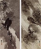 与謝蕪村-鳶鴉図