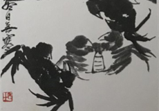 斉白石-カニ