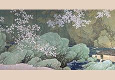 川合玉堂-行く春(左隻)