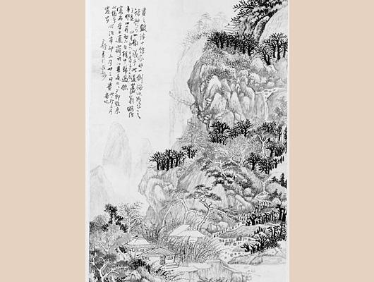 王鐸メイン画像-山水画