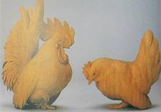 高村光雲-矮鶏置物(ちゃぼおきもの)